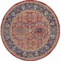 Ankara Global 6' Round Red and Blue Multicolor Persian Area Rug - Nourison ANR02