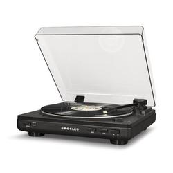 Crosley Electronics Decorative Record Player in Gray, Size 4.5 H x 14.5 W x 14.0 D in   Wayfair T400A-GY