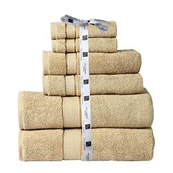 Cozy Home Collection Bathroom Towel Set   Absorbent Bath Towel   Hand Towel and Washcloth Set   Hotel Towels   Guest Towel   600 GSM Bath Towel, 2 Washcloths, 2 Hand Towels, 2 Bath Towels- Taupe