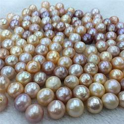 Calvas {Baroque Pearl} Freshwater Baroque Pearl Sale by Mixed Beauty Colors, Undrilled 9-10MM Baroque Loose Pearl, 5pcs/Lot Wholesale