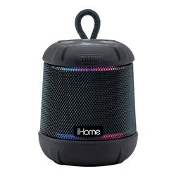 iHome Weather Tough Bluetooth Rechargeable Color Changing Speaker, Black