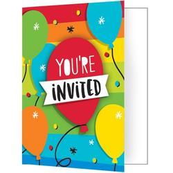 Creative Converting Rainbow Cake Disposable Invitations Paper   Wayfair DTC332466INV