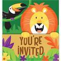 Creative Converting 24 Piece Jungle Safari Paper Disposable InvitationPaper | Wayfair DTC340139INV