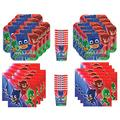 Amscan PJ Masks Birthday Party Supplies Bundle Pack for 16 Guests, Multi-colored, One Size
