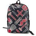 O-X_X-O Unisex Classic Lightweight Polyester Barber Shop Tools Backpack School Rucksack Travel Backpack College School Bags Laptop Backpack