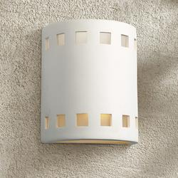 """Jaken 10"""" High Paintable White Bisque Outdoor Wall Light"""