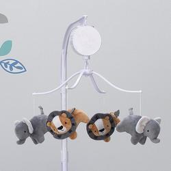 Bedtime Originals Jungle Fun Elephant & Lion Safari Musical Baby Crib MobilePlastic in Brown, Size 27.0 H x 14.0 W x 14.0 D in | Wayfair 207018