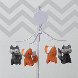 Bedtime Originals Acorn Fox & Raccoon Musical Baby Crib MobilePlastic in Brown, Size 27.0 H x 14.0 W x 14.0 D in | Wayfair 229018