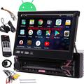 "EINCAR Android Car Stereo Single Din Radio with 7"" DVD CD Player GPS Navigation Auto Radio Receiver 1 Din Android 10.0 Head Unit Bluetooth Detachable Screen RDS WiFi OBD SWC SD Mirrorlink External MIC"