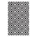 nuLOOM Indoor Rugs Black - Black & Gray Geometric Wool Rug