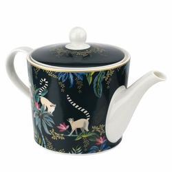 Portmeirion Sara Miller Tahiti 32 -oz. Porcelain Teapot Porcelain China/Ceramic in Blue, Size 5.71 H x 6.77 W x 11.3 D in | Wayfair 686533