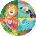 Creative Converting Jungle Safari Paper Disposable Dessert PlatePaper in Blue/Green/Orange | Wayfair DTC339766PLT