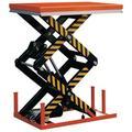 table élévatrice électrique double ciseaux 4 t 380 v