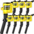 Ignition Coil DG508 8 Pack High Performance High Energy for Ford F-150 F150 F250 F-250 F-350 4.6L 5.4L V8 DG508 DG457 DG472 DG491 EXPEDITION MUSTANG CROWN VICTORIA LINCOLN MERCURY (Yellow)