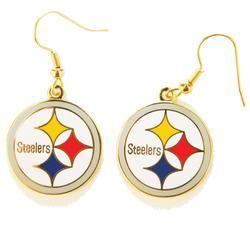 Pittsburgh Steelers Logo Wire Earrings