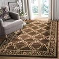 """Safavieh Lyndhurst Collection LNH557 Traditional Floral Trellis Non-Shedding Living Room Bedroom Dining Home Office Area Rug, 5'3"""" x 7'6"""", Brown / Brown"""
