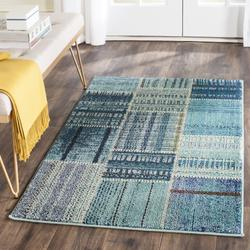 """""""Monaco Collection 2'-2"""""""" X 10' Rug in Forest Green And Light Blue - Safavieh MNC243F-210"""""""