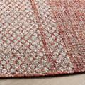 """""""Courtyard Collection 6'-7"""""""" X 6'-7"""""""" Square Rug in Light Beige And Terracotta - Safavieh CY8736-36512-7SQ"""""""