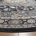 """""""Lyndhurst Collection 2'-3"""""""" X 8' Rug in Black And Multi - Safavieh LNH552-9091-28"""""""