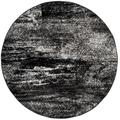 Adirondack Collection 4' X 4' Round Rug in Silver And Blue - Safavieh ADR110D-4R