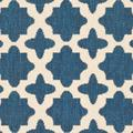 """""""Courtyard Collection 2'-3"""""""" X 6'-7"""""""" Rug in Navy And Beige - Safavieh CY6914-268-27"""""""
