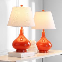 Amy 24-Inch H Gourd Glass Lamp (Set of 2) - Safavieh LIT4087D-SET2
