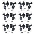 The Renovators Supply Inc. 12 Piece Dog Wrought Iron Seashell Wood Mount Shutter Set Single in Black, Size 2.0 H x 5.25 W x 0.25 D in | Wayfair