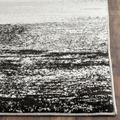 Adirondack Collection 6' X 6' Round Rug in Silver And Black - Safavieh ADR111A-6R