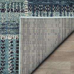 """""""Monaco Collection 2'-2"""""""" X 8' Rug in Forest Green And Light Blue - Safavieh MNC243F-28"""""""