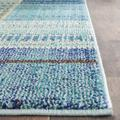 Monaco Collection 10' X 14' Rug in Forest Green And Light Blue - Safavieh MNC243F-10