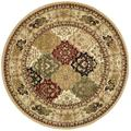 """""""Lyndhurst Collection 3'-3"""""""" X 5'-3"""""""" Rug in Multi And Ivory - Safavieh LNH221A-3"""""""