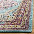 Madison Collection 4' X 6' Rug in Cream And Royal Blue - Safavieh MAD604A-4