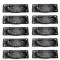 """The Renovators Supply Inc. Cabinet Drawer Door Wrought Iron Mission 3 5/8"""" Center Ring Pull Multipack Metal in Black, Size 4.28 H x 1.87 W in 45750"""