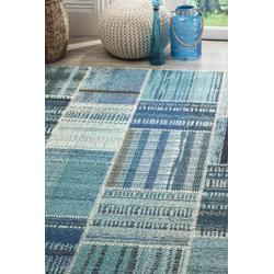 """""""Monaco Collection 2'-2"""""""" X 4' Rug in Forest Green And Light Blue - Safavieh MNC243F-24"""""""