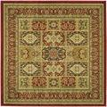 Lyndhurst Collection 4' X 6' Rug in Ivory And Red - Safavieh LNH215A-4