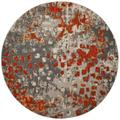 """""""Monaco Collection 6'-7"""""""" X 6'-7"""""""" Round Rug in Blue And Light Grey - Safavieh MNC255M-7R"""""""