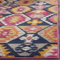 """""""Monaco Collection 2'-2"""""""" X 14' Rug in Violet And Light Blue - Safavieh MNC243L-214"""""""