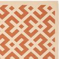 """""""Courtyard Collection 2'-7"""""""" X 5' Rug in Beige And Navy - Safavieh CY7017-258-3"""""""