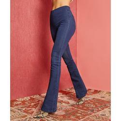 Suzanne Betro Weekend Women's Denim Pants and Jeans 101DARK - Dark Wash Super-Stretch High-Rise Flare Jeggings - Women & Plus