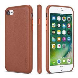 iPhone 7 Case iPhone 8 Case iPhone SE 2020 Cases Rejazz Anti-Scratch iPhone 7 Cover iPhone 8 Cover Genuine Leather Apple iPhone Cases for iPhone 7/8/SE 2020 (4.7 Inch)(Brown)