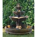 "Henri Studio Montreux 51""H Relic Lava 4-Tier Garden Fountain"