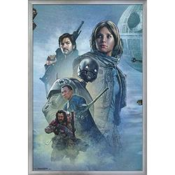 """Trends International Star Wars: Rogue One - Celebration Mural Wall Poster, 22.375"""" x 34"""", Silver Framed Version"""