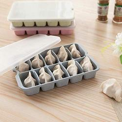 Storage Boxes Bins - Wheat Straw Single Layer Multi Compartment Stackable Frozen Dumplings Preservation Box Tray With Lid - Boxes Bins Storage Storage Boxes Bins Plastic Tray Taper Multi Co