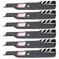 "Oregon 6PK G5 Gator Lawn Mower Blades 595-609 Replacement for AYP/Craftsman/Husqvarna Lawn Mowers w/ 50"" Deck 137380, 532137380"