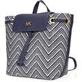 Junie Medium Flap Backpack (admiral/optic White) Backpack Bags - Blue - Michael Kors Backpacks