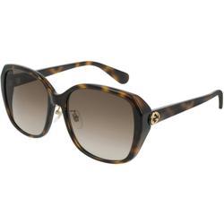 GG0371SK 002 Women's Sunglasses Tortoise - Brown - Gucci Sunglasses