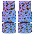 freedomlook Butterfly Floor Mats for Cars, Car Mats Butterfly, Butterfly Car Mats for Women, Blue Butterfly Car Mats - Unique Front and Back Car Mats (Front and Back Car Mats (Set of 4))
