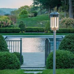 Hubbardton Forge Axis Outdoor 4-Light Lantern Head Aluminium/Metal in Gray, Size 27.5 H x 17.0 W x 17.0 D in | Wayfair 346410-SKT-78-ZM0616