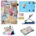 "Uliking Universal 9.5-10.5 inch Android iOS Tablet Case Cover for iPad Air 1 2/iPad 9.7/Pro 9.7/10.5/iPad 2 3 4, Galaxy Tab A/E/S/3/4/s2/s3/s4/Pro/Note 9.6"" 9.7"" 10.1"" 10.5"", Romantic Paris Tower"