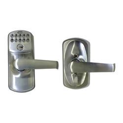 Schlage Satin Nickel Steel Electronic Keypad Entry Lock in Gray, Size 8.5 H x 6.5 W in | Wayfair FE595CSVPLYXELA